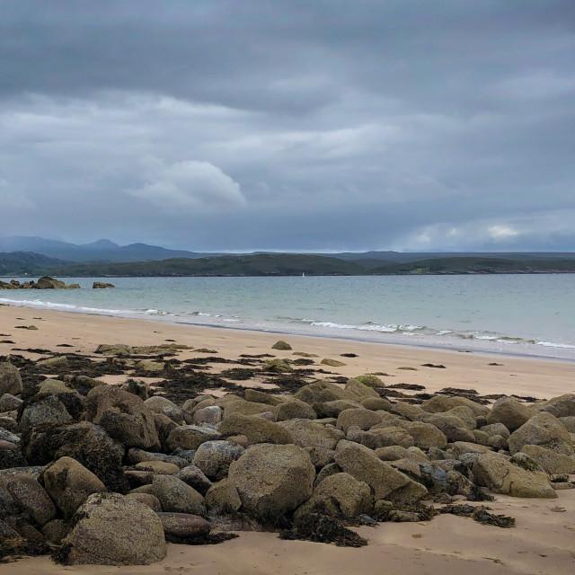 """Gairloch Beach, West Coast Scotland"" stock image"