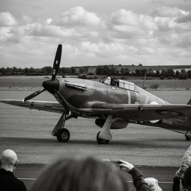 """Hawker Hurricane at Duxford Cambridgeshire"" stock image"
