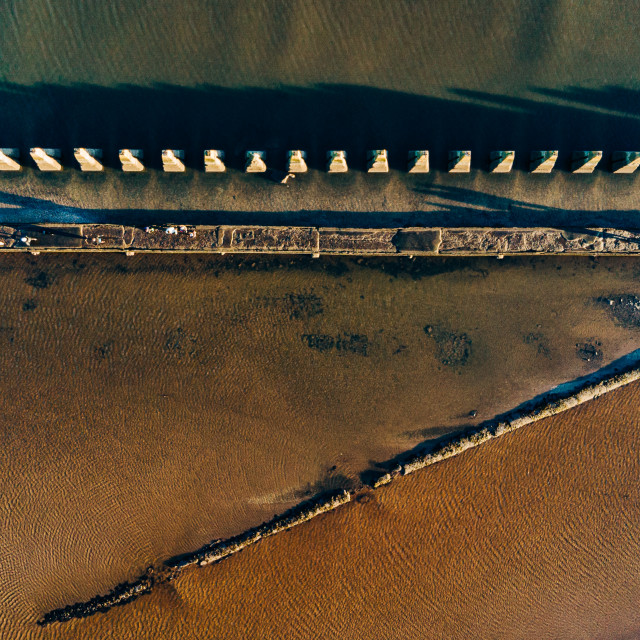 """""""Cramond From Above"""" stock image"""