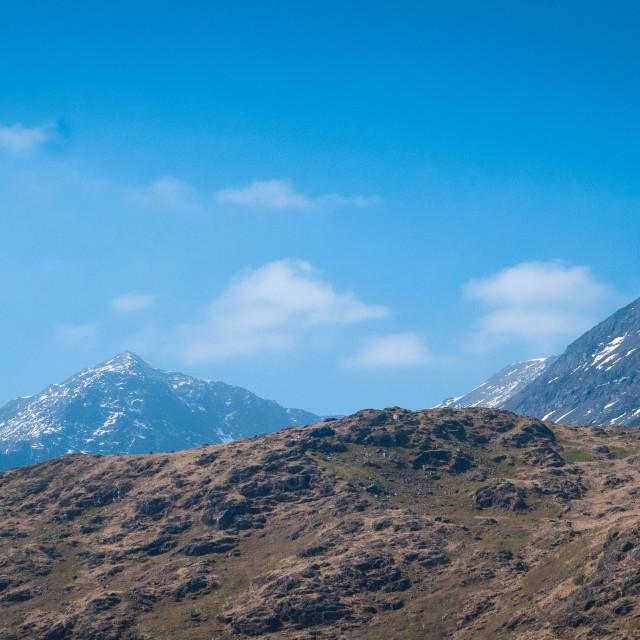 """Mount Snowdon, Snowdonia National Park, Wales"" stock image"