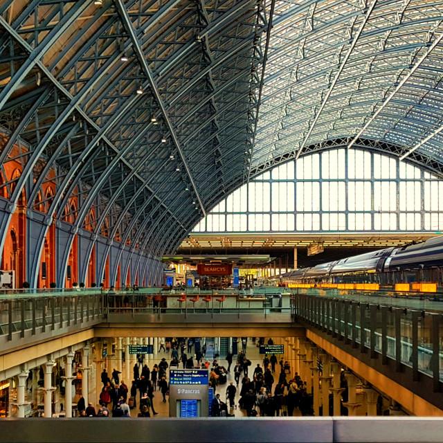 """St Pancras International"" stock image"