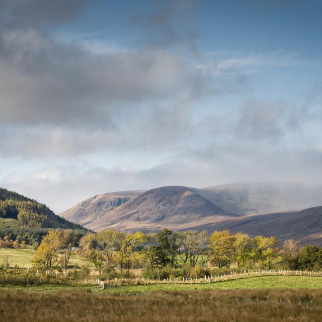 """Glen Clova, Highlands, Scotland"" stock image"