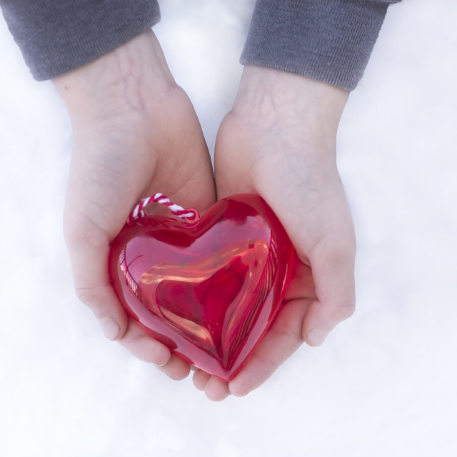 """""""Your Heart In Your Hands"""" stock image"""