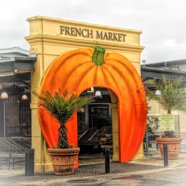 """Welcome To The French Market"" stock image"