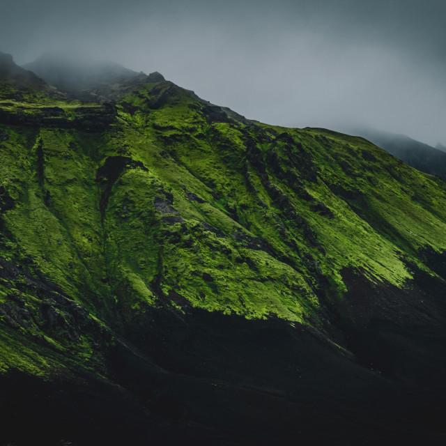 """Mossy mountain"" stock image"