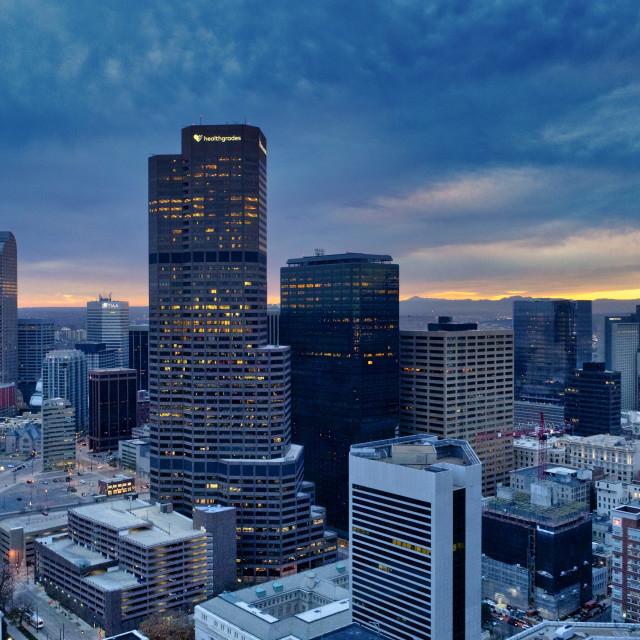 """Night Above Denver"" stock image"