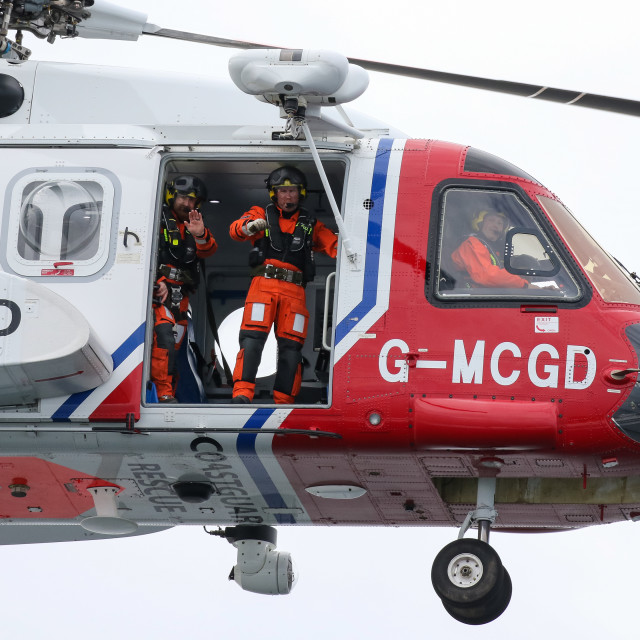 """""""HM Coastguard Helicopter"""" stock image"""