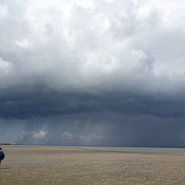 """""""Storm Approaching Ryde"""" stock image"""