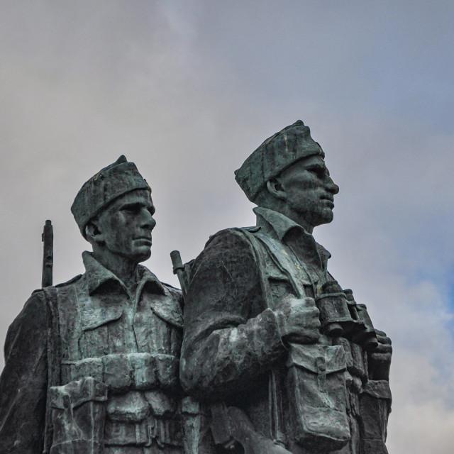 """""""Commando Memorial Spean Bridge"""" stock image"""