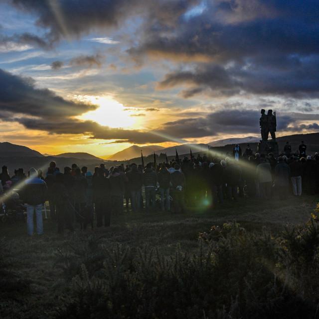 """Remembrance Sunday @ the Commando Memorial"" stock image"
