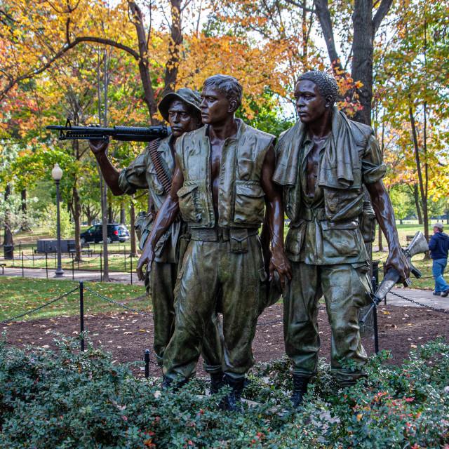 """Three Soldiers, Vietnam Memorial"" stock image"