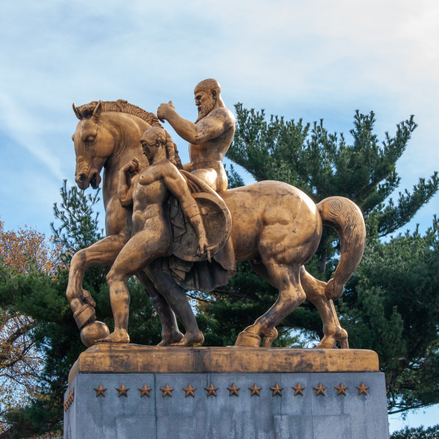 """Arts of War Sculpture"" stock image"