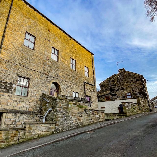 """Silsden Primitive Methodist chapel, Original Site at Chapel Street, Silsden (Cobbydale) Yorkshire, England."" stock image"