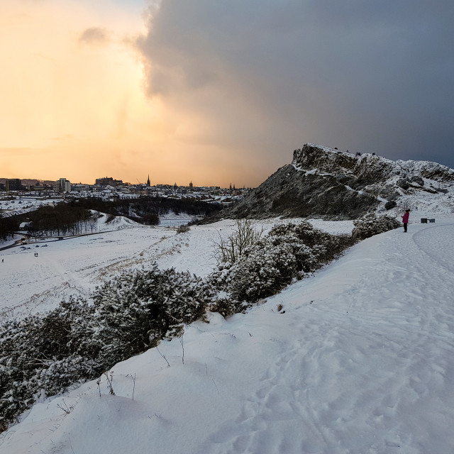 """Edinburgh in Winter"" stock image"