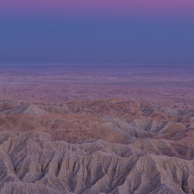 """""""Beautiful dusk colors over the desert"""" stock image"""