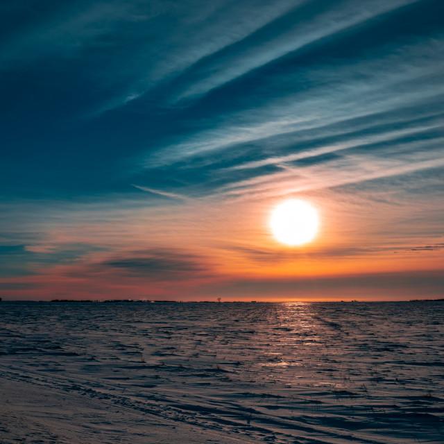 """Cold Sun"" stock image"