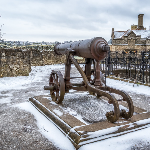 """""""Rochester Canon in Snow"""" stock image"""