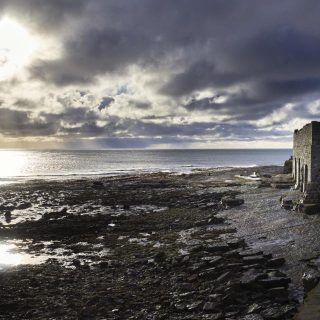 """The Irish Sea was stilled"" stock image"
