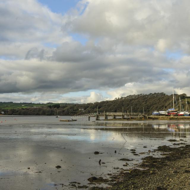 """Weir Quay, River Tamar, Devon"" stock image"