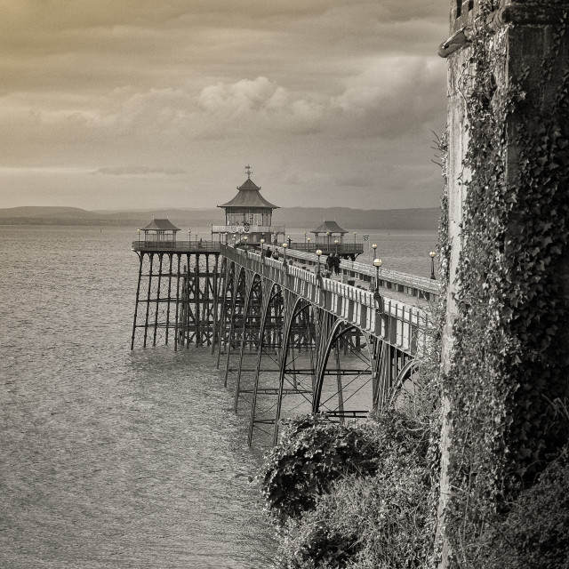 """""""Clevedon Victorian Pier"""" stock image"""