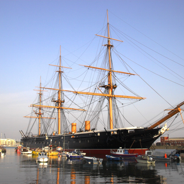 """HMS Warrior 1860"" stock image"
