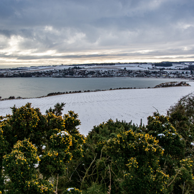 """""""Stonehaven Bay - Winterscape"""" stock image"""
