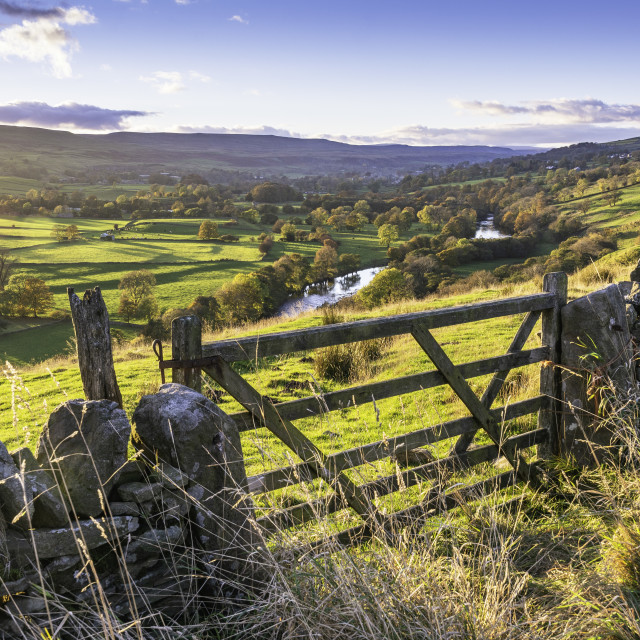 """""""The view of Teesdale"""" stock image"""