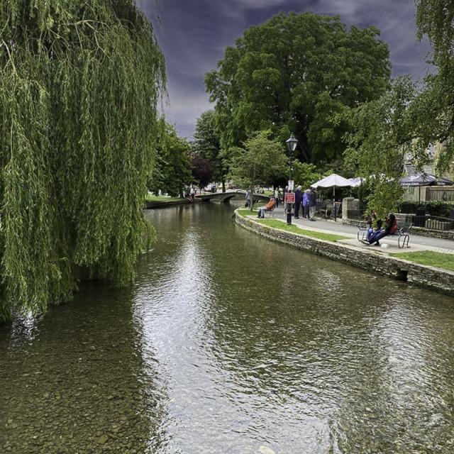 """Cotswold river scene"" stock image"