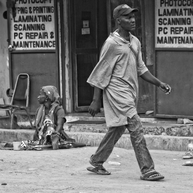 """""""Street view in Banjul"""" stock image"""