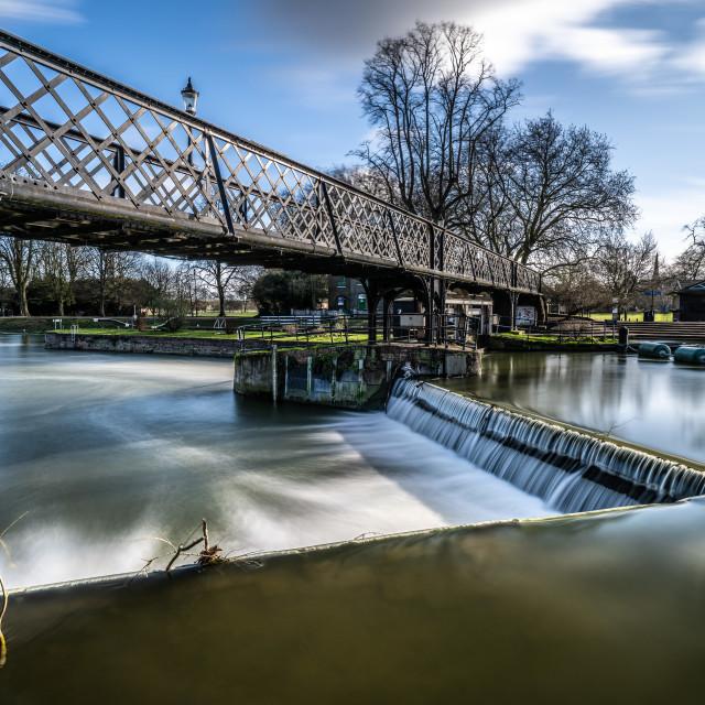 """Jesus Lock Footbridge, Cambridge UK."" stock image"
