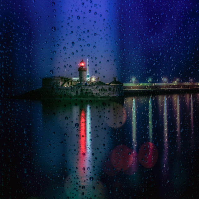 """""""Dun Laoghaire East Pier Lighthouse"""" stock image"""