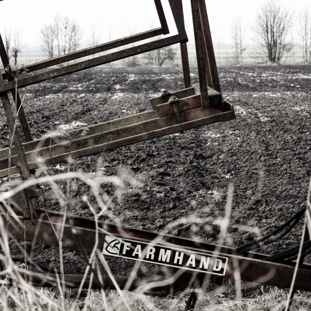"""Old farm machinery"" stock image"