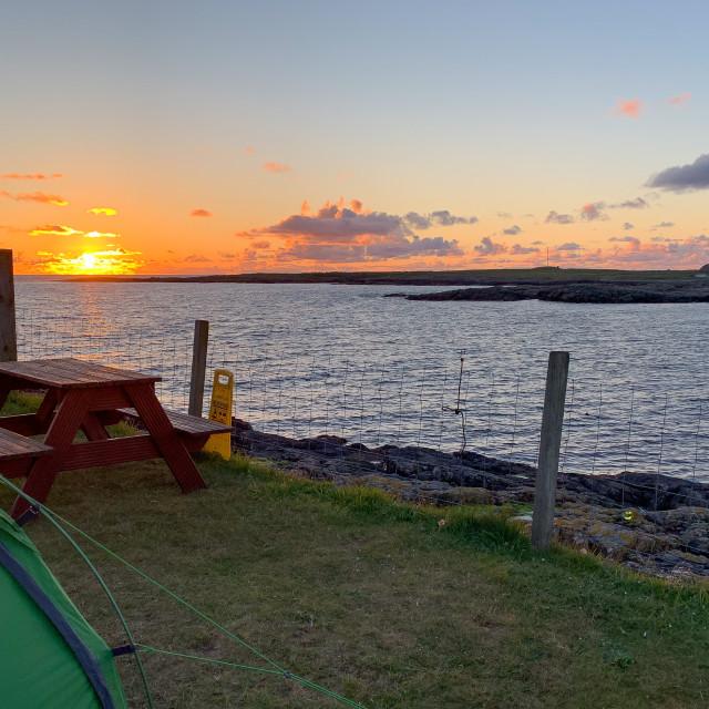 """Sunset on Barra"" stock image"