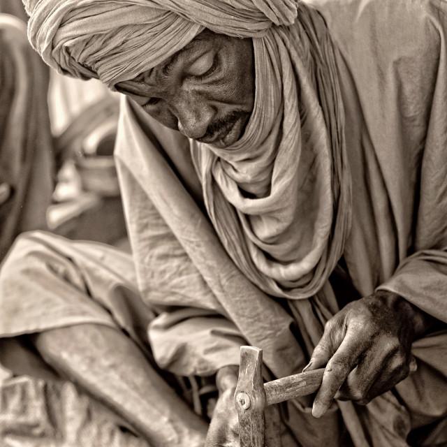 """Abdou, Touareg artisan, Timbuktu, Mali"" stock image"