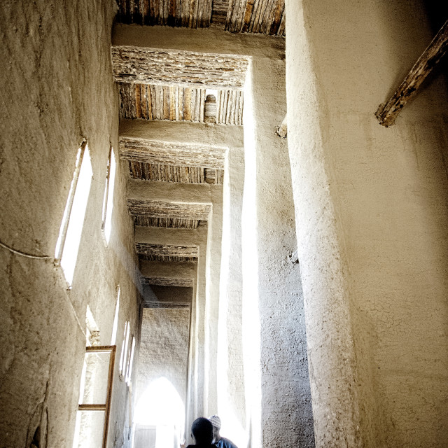 """Interior of the Great Mosque at Djenné, Mali"" stock image"