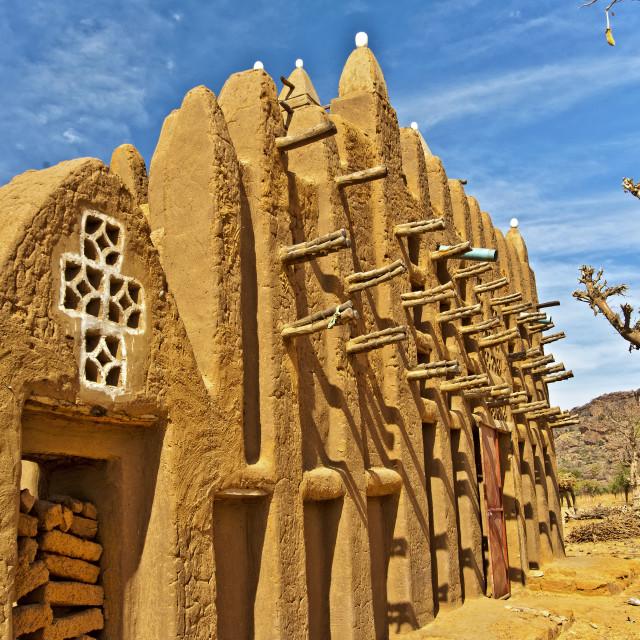 """Goundiourou Mosque; Pays Dogon, Mali"" stock image"