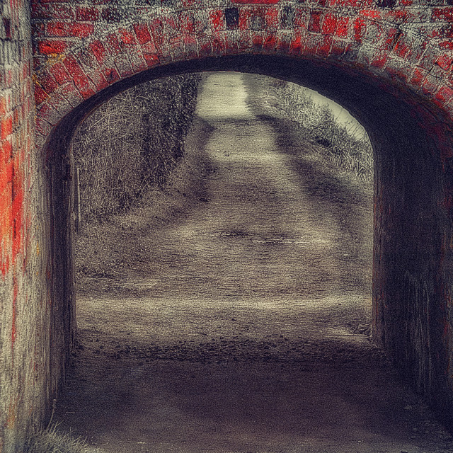 """""""Foxhanger Towpath Tunnel"""" stock image"""