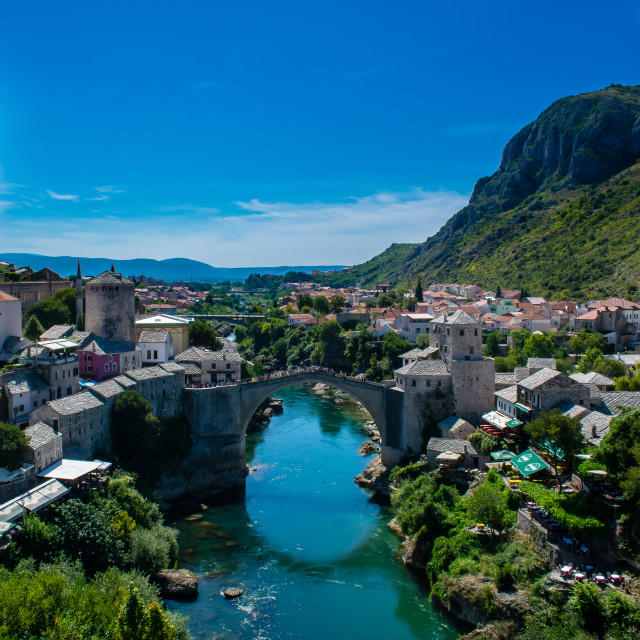 """""""Stari Most from above"""" stock image"""