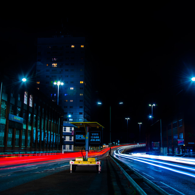 """""""Leicester at night"""" stock image"""