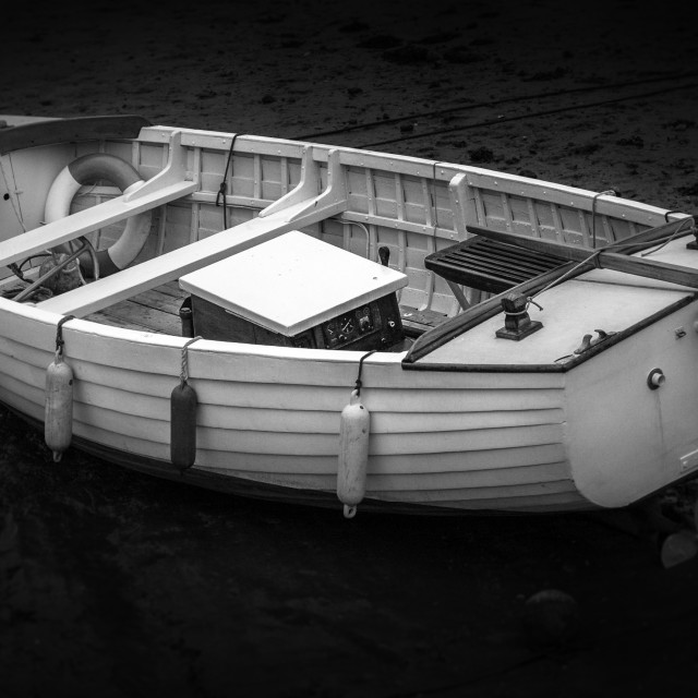 """Rowing boat Norfolk"" stock image"