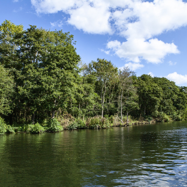 """The norfolk broads"" stock image"