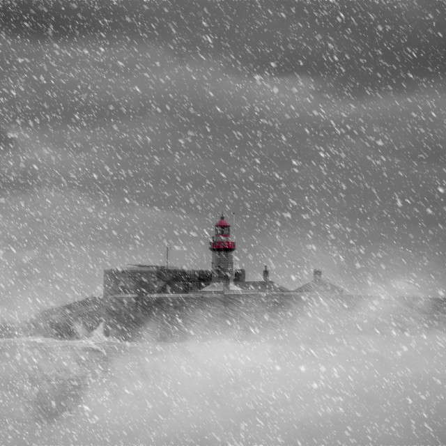 """""""Port in the Storm"""" stock image"""