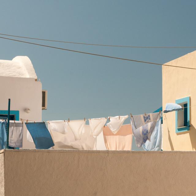 """""""Washing Line"""" stock image"""