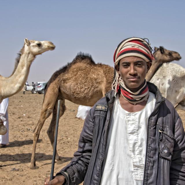 """Ali; Omdurman camel market, Sudan"" stock image"