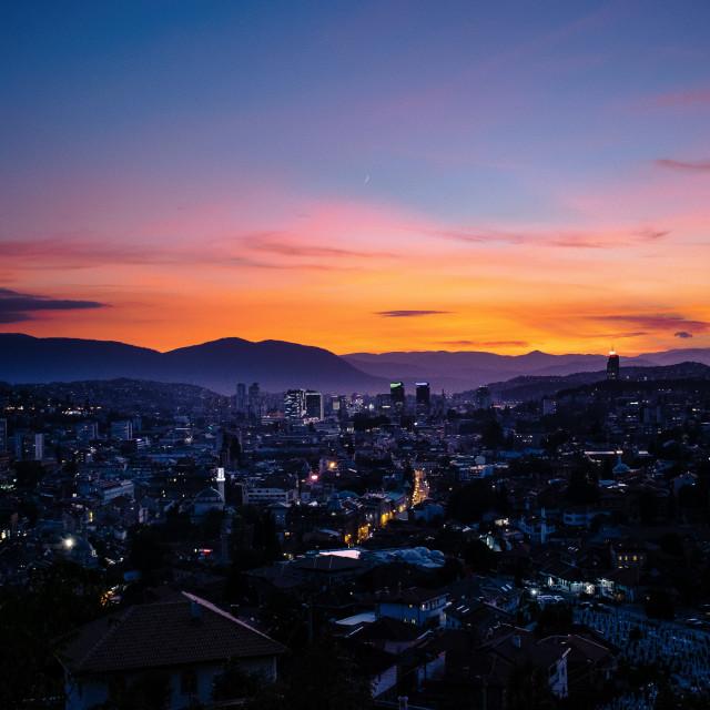 """""""Sarajevo from above"""" stock image"""