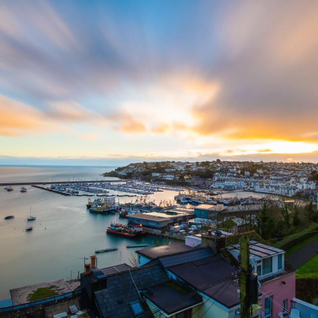 """""""Brixham Harbour at Dawn"""" stock image"""