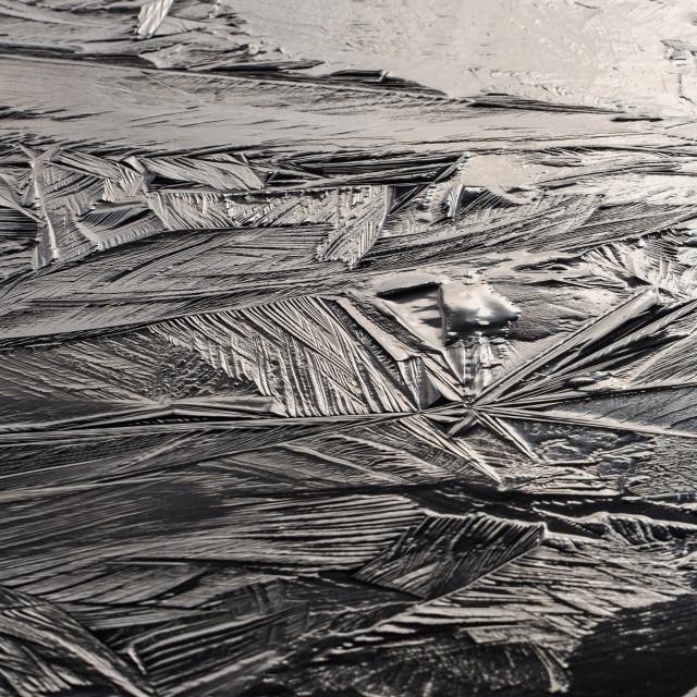 """Abstract Crystalline Ice Texture"" stock image"