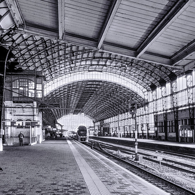 """Neo-Classical Railway Station"" stock image"
