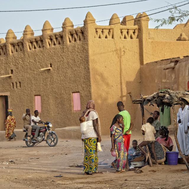 """""""Agadez old town, Niger"""" stock image"""