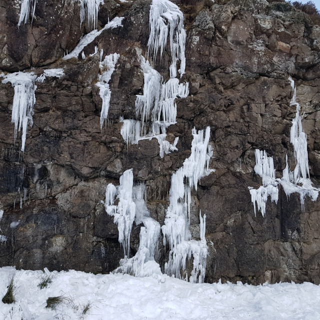 """""""Icicles in Pentland Hills"""" stock image"""
